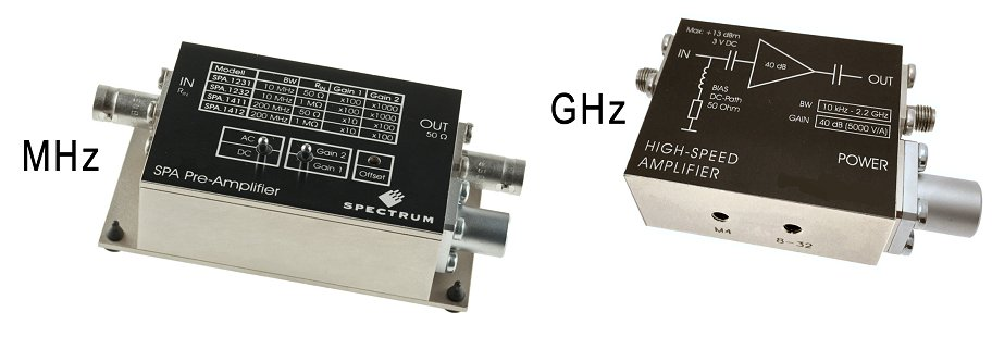 Signal Amplifer module comparison mhz and ghz.