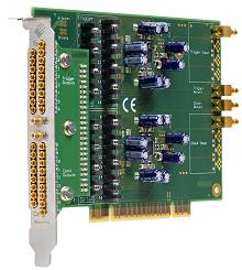 Distribution card PCI version showing two banks of SMB connectors