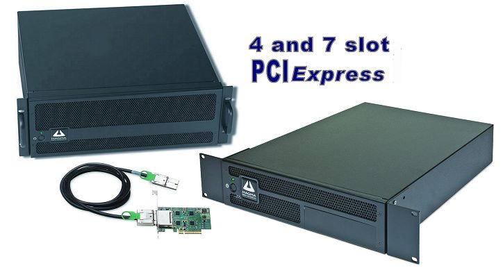 EB4 and EB7 PCI Express docking stations