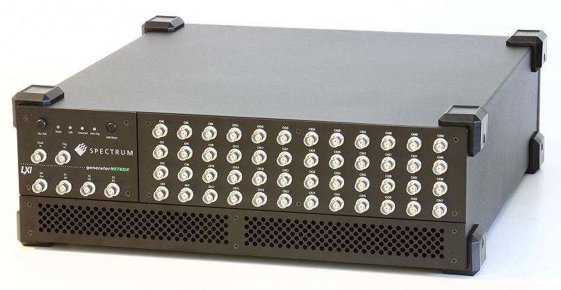 DN6.65xx AWG with 48 channels. This has BNC's, also available with SMA connectors.
