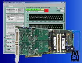 M2i PCI-X card with Labview control and display panel