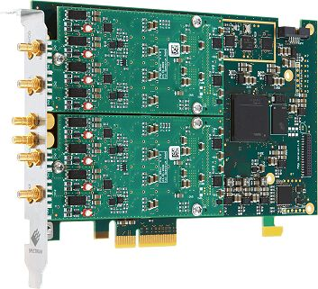 M2p.65xx pci-express multi-channel signal generator card with mega sample output update rates.