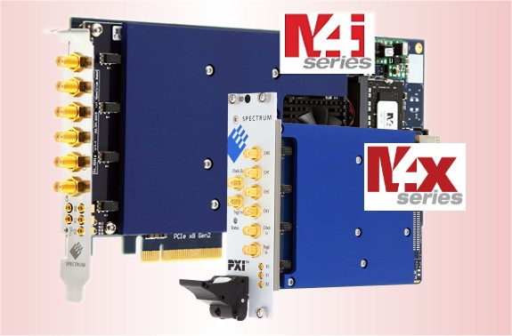 M4i (PCIe x8-lane) and M4x (PXIe x4-lane) awg cards